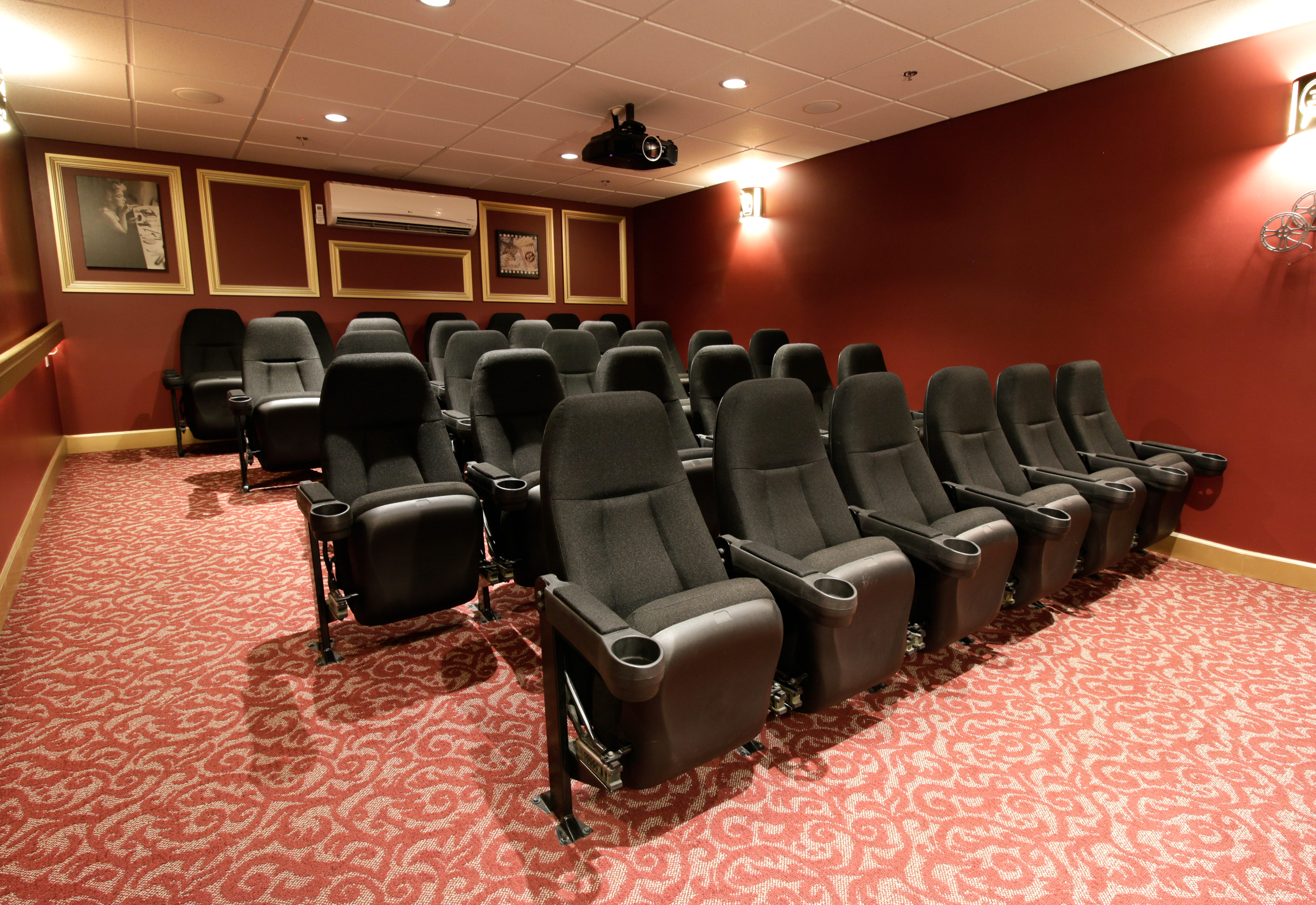 The theatre at Cherry Park Retirement Residence in Penticton