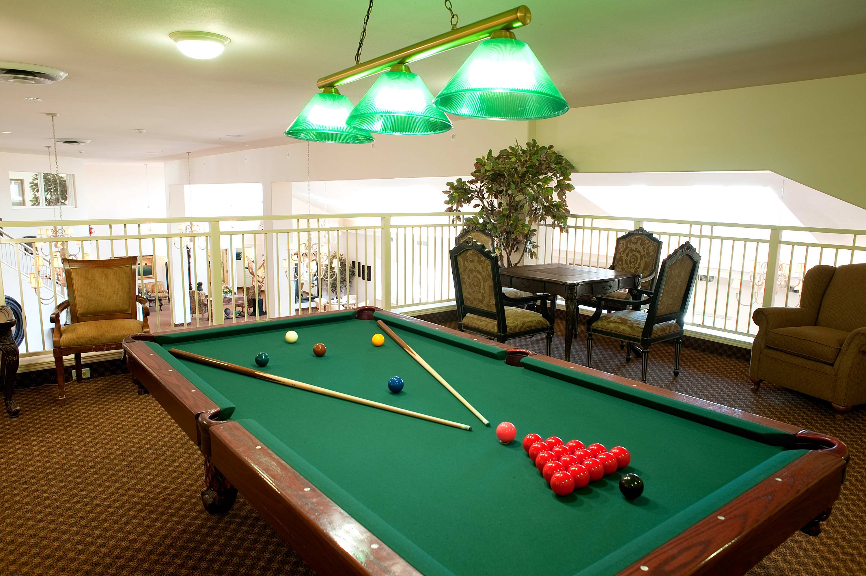 Entertainment area at Court at Laurelwood Retirement Residence in Waterloo