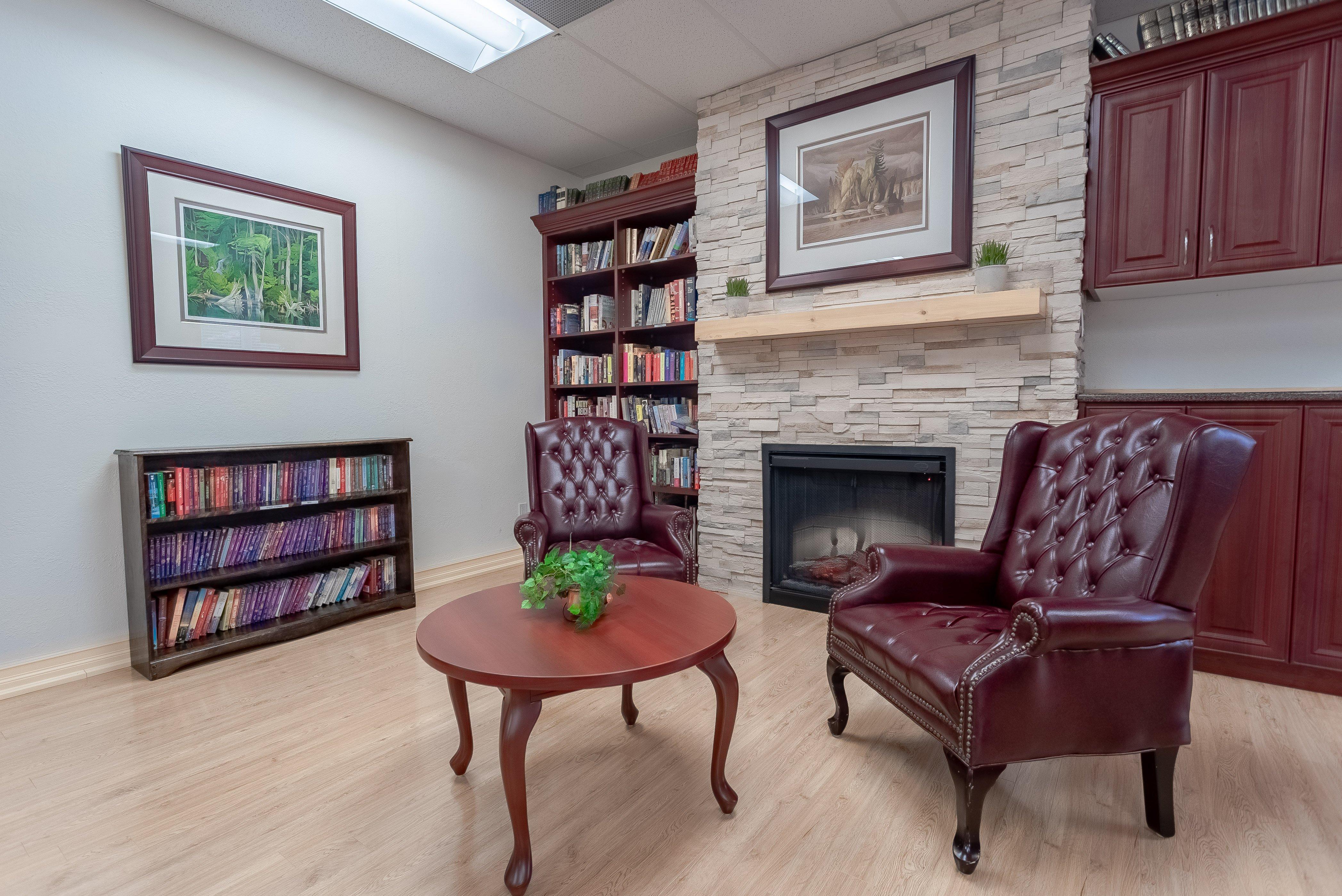Fireplace at Kawartha Lakes Retirement Residence
