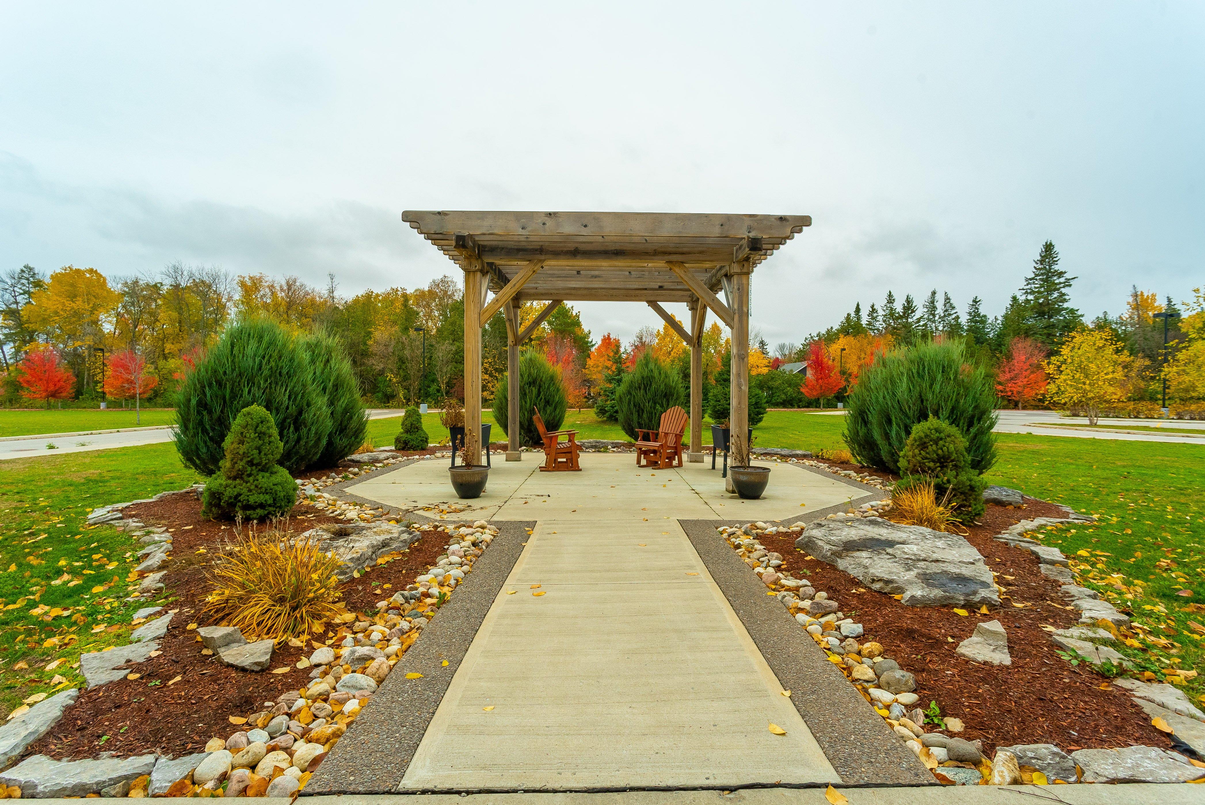 Beautiful garden at Kawartha Lakes Retirement Residence