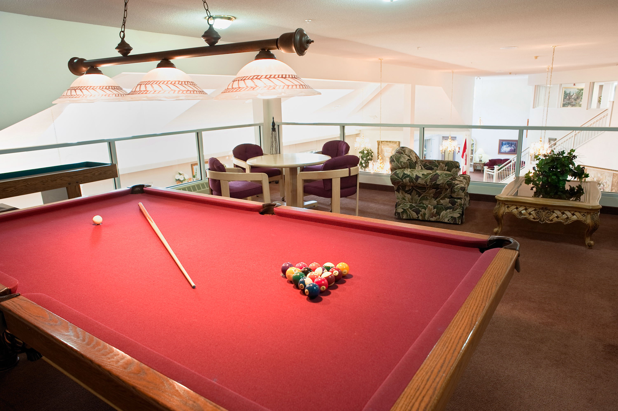 The entertainment area at Masonville Manor Retirement Residence in London
