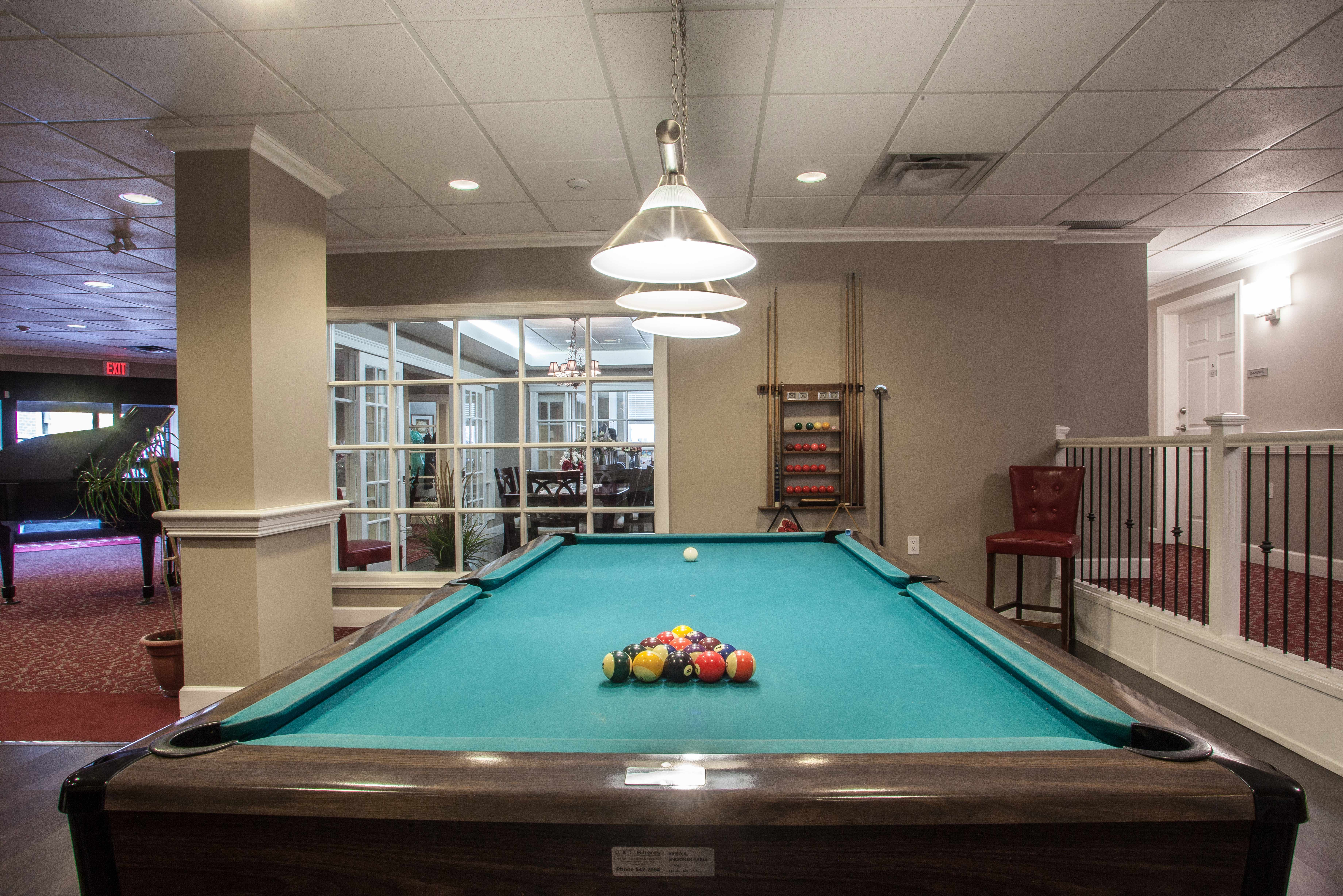 Entertainment area at Orchard Valley Retirement Residence in Vernon