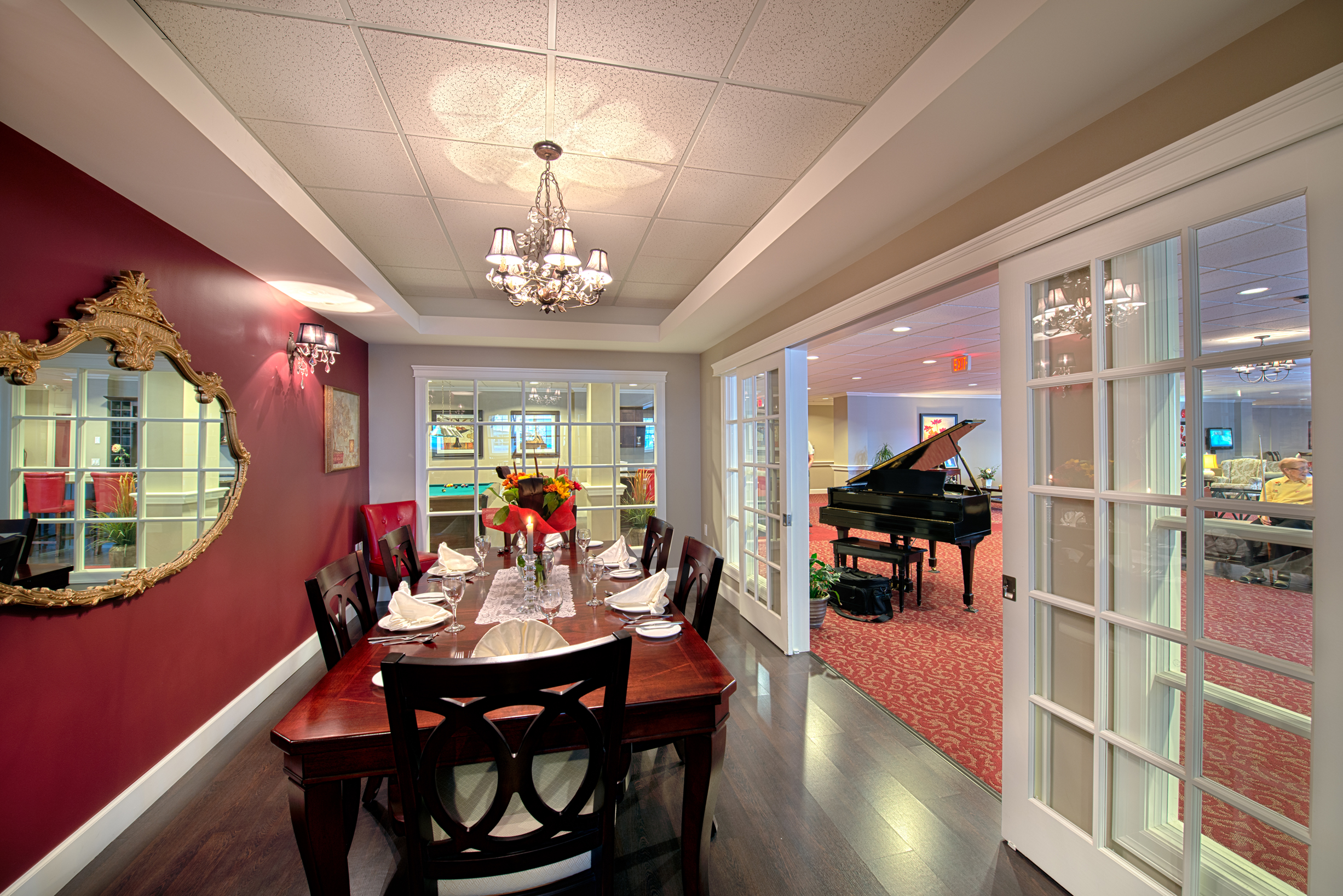 Private dining room at Orchard Valley Retirement Residence in Vernon