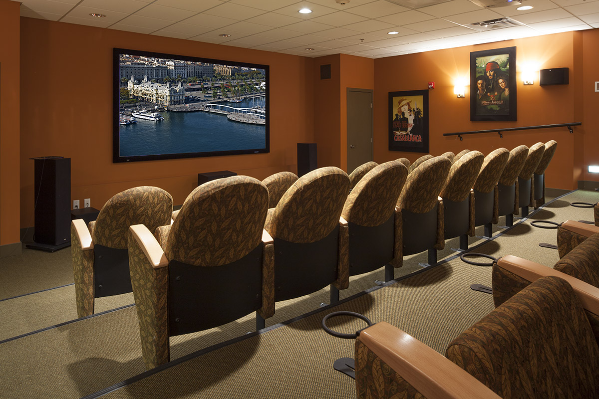 Theatre at Pacifica Retirement Residence in Surrey (White Rock)
